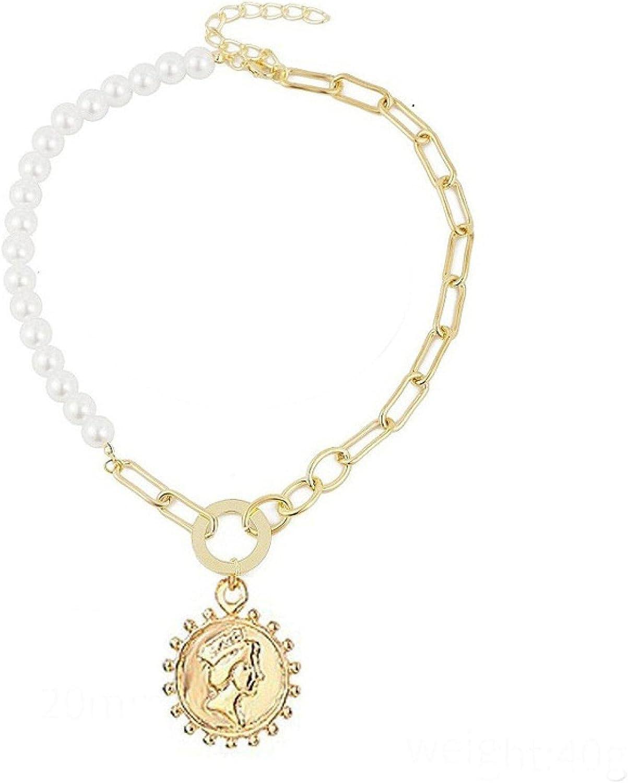 Fashion Trend Copper Collar Niche Design Sense Necklace Personality Creative Stitching Clavicle Chain Female