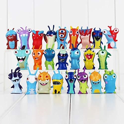 Entplg Slagtra extraño Juguete de Hadas Monstruo extraño muñeca Caracol tuerto Conjunto Completo de 24 Modelos de Adornos Hechos a Mano para Regalos de cumpleaños de niños