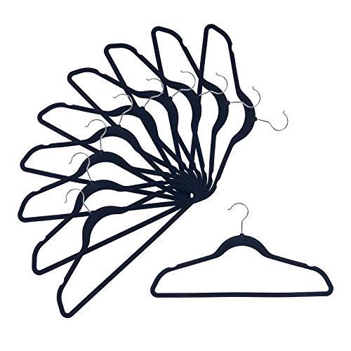 NesTidy Velvet Hangers 60 Pack 175 Non-Slip Felt Hangers with 360 Degree Swivel Hook Space Saving Clothes Hangers Flocked Hangers for Coats Sweaters Jackets Pants Dress ClothesBlack