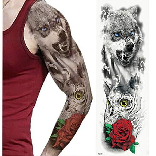 tzxdbh 5Pcs- Tatuaje De Brazo Completo, Adhesivo De Tatuaje ...