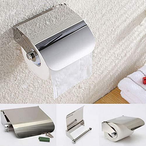 Zodensot 1 soporte de pared para papel higiénico, soporte de papel de acero inoxidable, soporte de papel de rollo de acero inoxidable