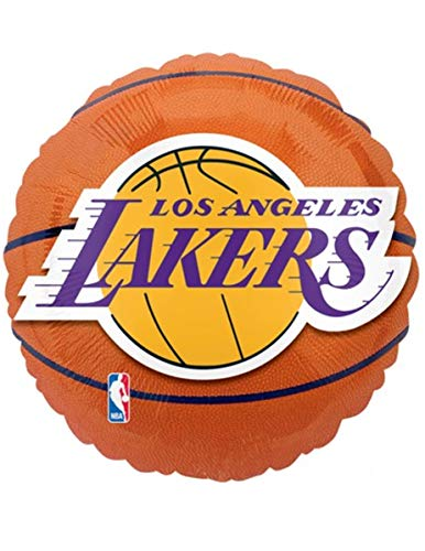 Anagram International Los Angeles Lakers Flat Party Balloons, 18', Multicolor