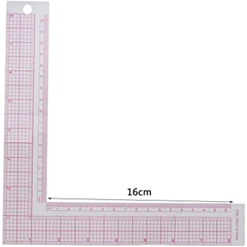L Shape Leathercraft Pink Plastic Measuring Square Ruler French Curve Sewing Rular for DIY Leather Handmade Sewing Tools Square Ruler