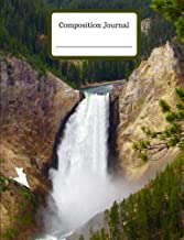 Composition Journal - Yellowstone Falls - College Ruled - 200 Pages: Composition Journal for School