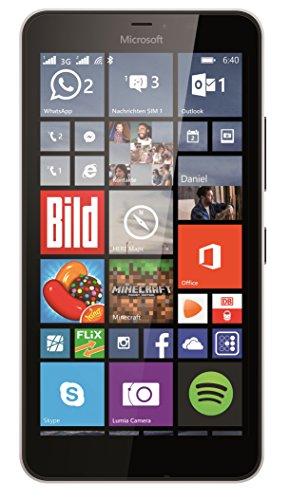 Microsoft Lumia 640 XL Dual-SIM Smartphone (5,7 Zoll (14,5 cm) Touch-Display, 8 GB Speicher, Windows 10) weiß