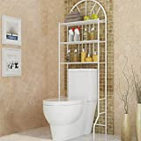 Trintion Over Toilet Shelf 177 * 65 * 34cm 3 Tier Bathroom Storage Shelf Bathroom Rack Laundry Shelf Unit Organizer for necessary items like towels toilet paper and more