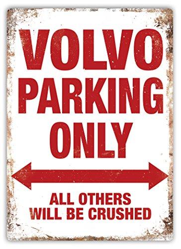 Volvo Parking–Metall-Wandschild mit inspirierender Aufschrift