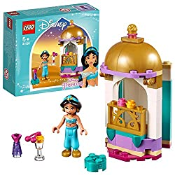 Jasmine's Petite Tower This set features a palace tower with a balcony and a hinged base to open it up and play inside Store all the pieces inside and take this Disney Aladdin buildable toy with you to play on the go Manufacture recommended age: 5+ N...