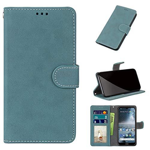 JARNING Prämie Hülle für Lenovo C2/K10a40,Mattiert Leder Etui Schutzhülle Ständer Funktion und Magnetverschluss Handyhülle Wallet Case (Blau)