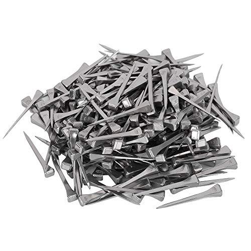 250 Stück Stahl E4 Hufeisennägel, Buntglasnägel und quadratische Pferderennennägel zur Sicherung von Blei oder Glas