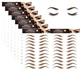 Eyebrow Tattoo Stickers, 4D Hair-like Authentic Eyebrows, Brown Imitation Ecological Lazy Natural Tattoo Eyebrow Stickers Waterproof for Woman Makeup Tool for Woman 88 Pairs (Classic Pattern)