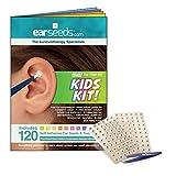 Kids Ear Seed Kit- 120 Ear Seeds, Stainless Steel Tweezer