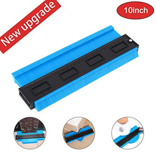 Contour Gauge Duplicator, 10 Inch Shape Contour Gauge Duplicator/Tools Mode Contour/Copy Gauge Contour Gauge Duplicator/Standard Wood Marking Tool/Tiling Laminate Tiles General Tools (Blue)