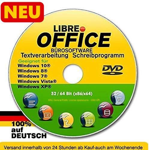 Libre OFFICE PREMIUM für WINDOWS Betriebssystem 10+8+8.1+7+Vista+XP Schreibprogramm Textverarbeitung Tabellenkalkulation NEUWARE