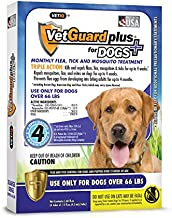 VetGuard Plus Flea & Tick Treatment for X-Large Dogs, Over 66 lbs, 4 Month Supply