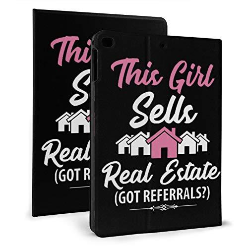 This Girl Sells Real Estate - Funda para iPad mini 4/5 de 7.9 pulgadas, función de encendido y apagado automático