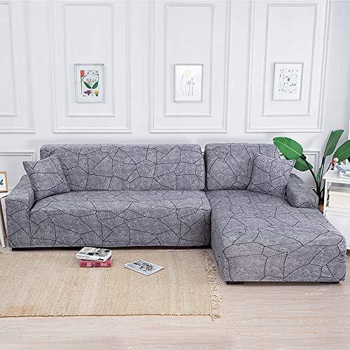 PPMP Elastische Sofabezüge für Wohnzimmer L-Form Sofa Need Buy 2 Stück Sofabezug Stretch Corner Couchbezug Schonbezüge A11 1-Sitzer