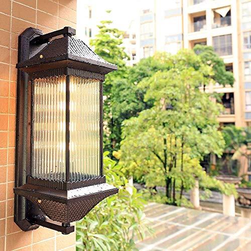 Palm kloset Lámpara de Pared Impermeable para Exteriores/Villa de jardín Luz de Puerta de Patio Exterior/Pared Lámpara de Pared Retro de Pared Exterior (Tama?o:Grande) (Color : Large)