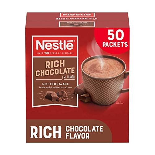 Nestle Hot Chocolate Packets, Hot Cocoa Mix, Rich Chocolate Flavor, Made with Real Cocoa, 50 Count (0.71 Oz each), 35.5 Oz - PACK OF 3