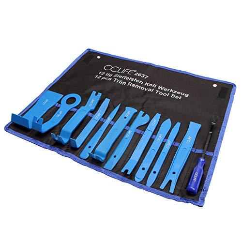 CCLIFE 12tlg Auto Zierleistenkeile Set PP PA+ Demontage Werkzeug Innenraum Verkleidung Türverkleidung