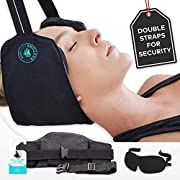 Hammock for Neck with Adjustable Double Strap with Buckle for Protection - Portable Cervical Traction Device for Neck Pain Relief, Muscle Relaxation and Physical Therapy - BodyRestore