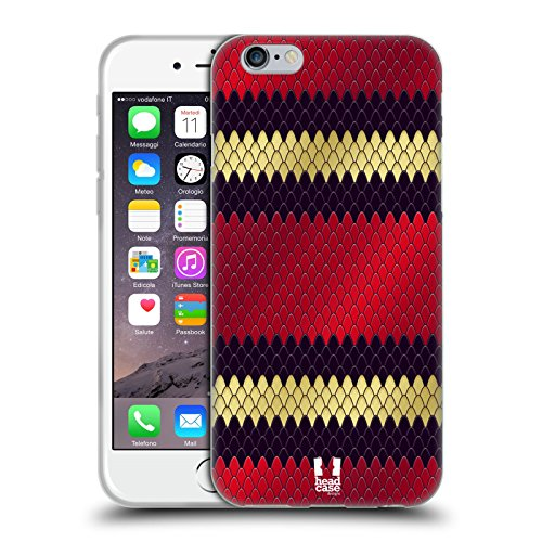 Head Case Designs Dreiecksnatter Schlange Muster Soft Gel Hülle für Apple iPhone 6 / 6s