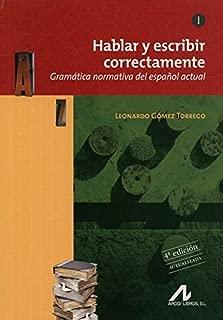 HABLAR Y ESCRIBIR CORRECTAMENTE TOMO I GRAMATICA N(9788476358276)