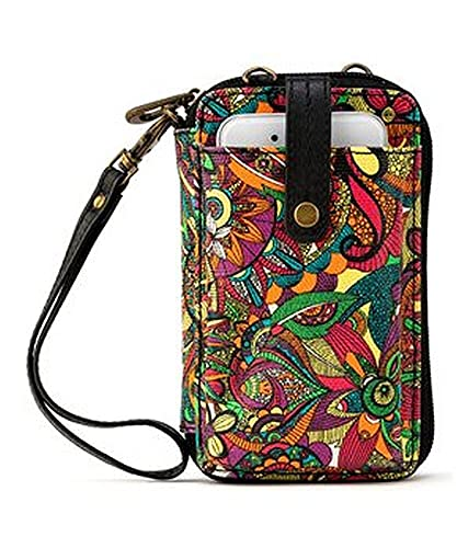 Sakroots Artist Circle Smartphone Wristlet Convertible Cross Body Bag, Rainbow Desert