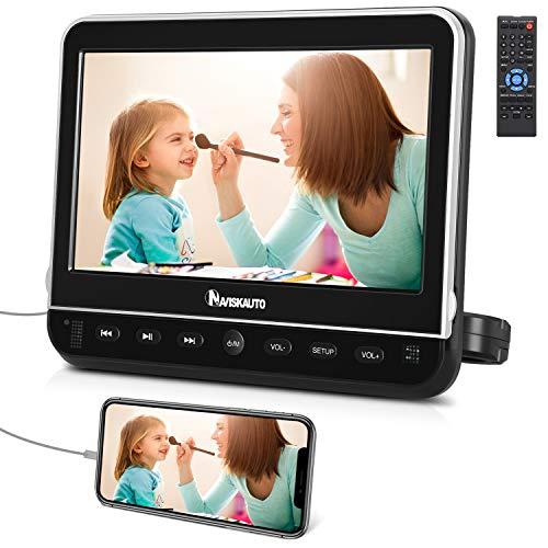 NAVISKAUTO Lecteur DVD Voiture pour Enfant 10,5 Pouce Ecran d'appui tête Compatible avec...