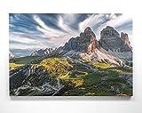 Atemberaubendes Berg Bild Dolomiten, 3 Zinnen Südtirol -