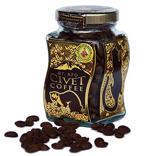 【DIZON FARMS】高級コーヒー豆 ギフト 世界一高価 幻のシベット・コーヒー 野生のジャコウネコ 貴重 カペ・アラミド(アラミドコーヒー)100g 今だけコーヒーカップ付き!