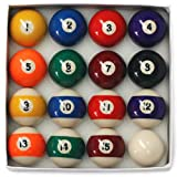 E-Service 2' Spots & Stripes Pool Ball set with 1 7/8 cue ball