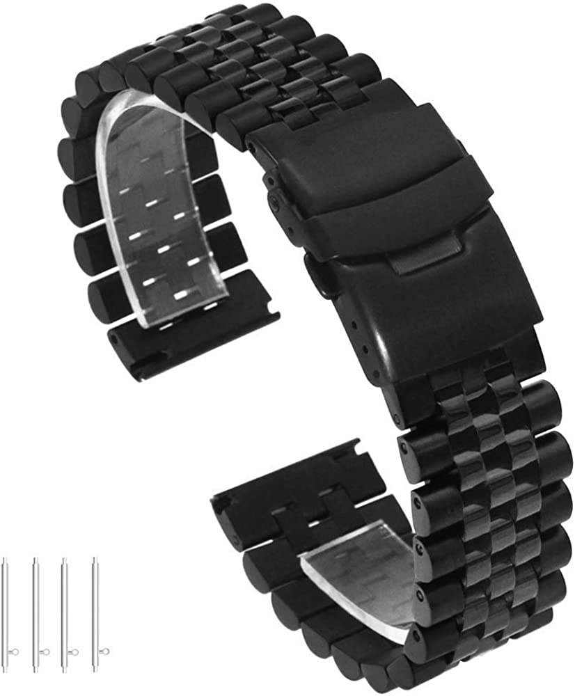 Quick Release Max 47% OFF Solid Stainless Steel 1 year warranty Watch Band Bracelet Strap 20