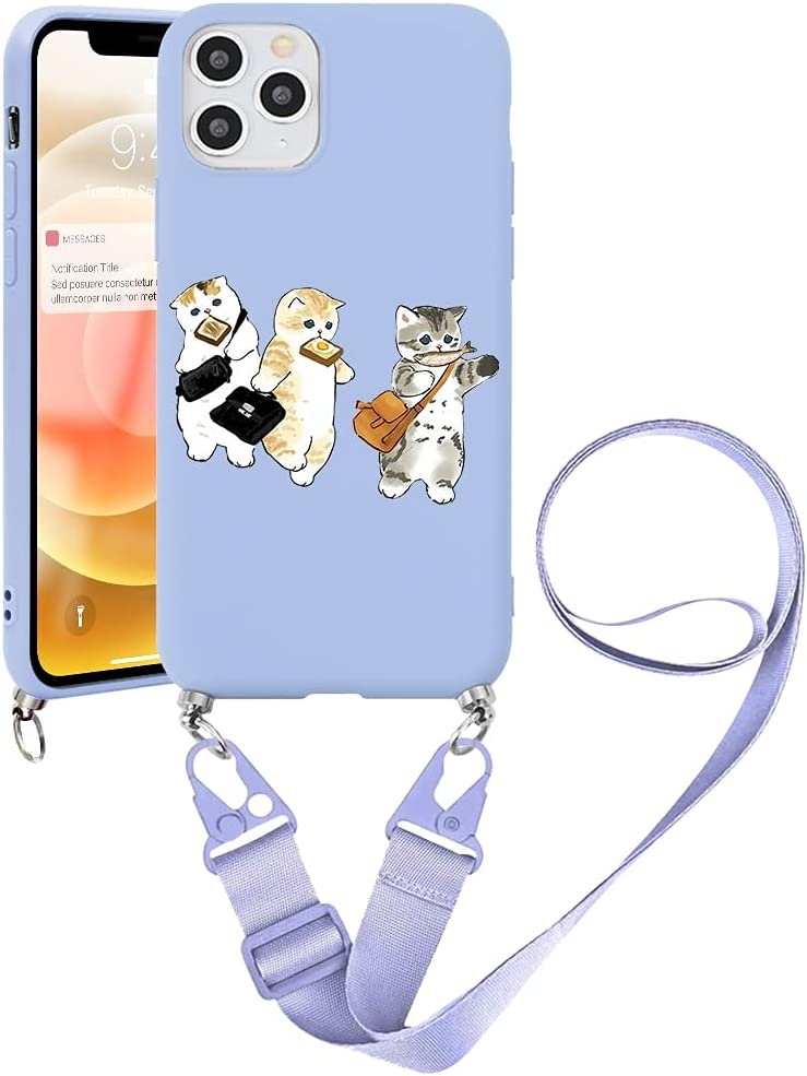 Pnakqil Crossbody Case Compatible with Samsung Galaxy Note20 (5G) 6.7 inch, Adjustable Lanyard Necklace Protective Cover with Soft TPU Shockproof Silicone Bumper Cases for Samsung Note 20 5G, Cat 2