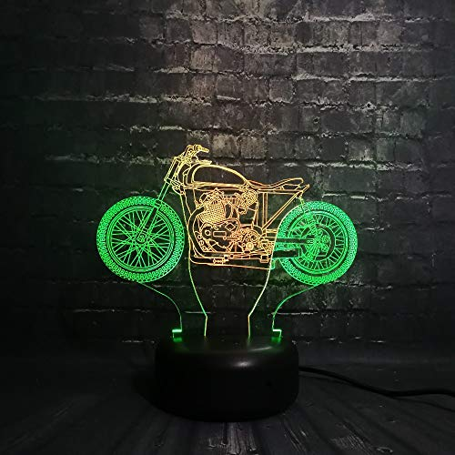 Neuheit 3d lampe motorrad usb nachtlicht stimmung insekt kind spielzeug led glühbirne kinder spielzeug touch roller motorrad