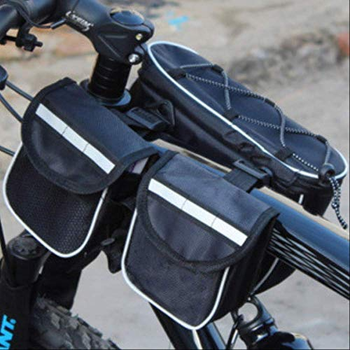 Yunmeng Fietstas voor moeder en kinderen, 4-in-1 voorvak voor fietsen, grote tas zonder regenhoes