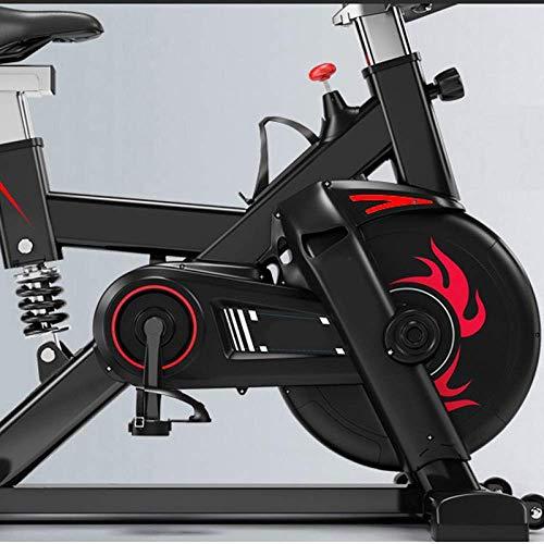 WGFGXQ Bicicleta Spinning Indoor Super Mute Ejercicio Ciclismo Bicicleta Fitness Bicicleta Estacionaria con Resistencia Ilimitada Manillar Ajustable Asiento Entrenamiento Cardio, Negro