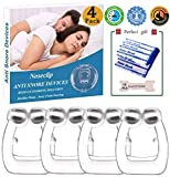Clipple Anti Snoring Devices,Snore Stop Nose Clip,Stop Snoring Nasal Strips,Snore Stopper Transparent Silicone Magnetic Anti Snore Tools Professional Relieve Snore Away for Sleeping(4pack)