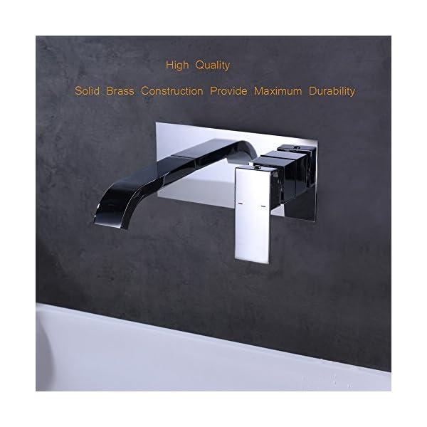 Crea Moderno Grifo Mezclador, Monomando Para Lavabo Para Montaje En La Pared Grifo Del Baño, Cromo