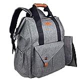 HapTim Multi-function Baby Diaper Bag Backpack W/Stroller Straps,Large Capacity Nappy Changing Bag