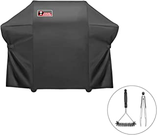 Kingkong 7108 Heavy Duty Grill Cover for Weber Summit 400-Series Gas Grills (Summit S-420, Summit S-470), 66.8L x 26.8W x 47H inches, Including Grill Brush and Tongs
