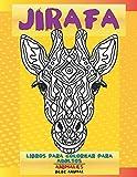 Libros para colorear para adultos - Bebé animal - Animales - Jirafa