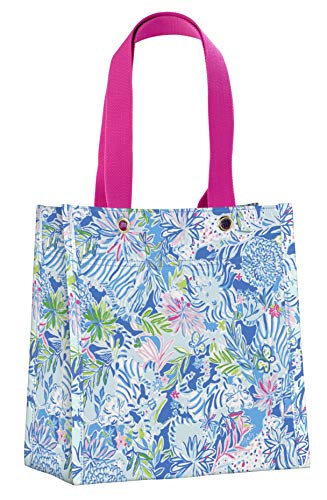 Lilly Pulitzer Market Shopper Bag Reusable Grocery Tote, Lion Around