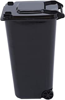YESMAEA Desktop Trash Can Mini Wheelie Trash Can Storage Bin Mini Trash Cans,black