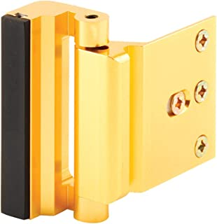 """Defender Security U 10826 Door Reinforcement Lock – Add Extra, High Security to Your Home and Prevent Unauthorized Entry – 3"""" Stop, Aluminum Construction (Gold Anodized Finish)"""