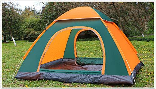W Automatique Pop Up Outdoor Famille Camping Tente 2 Personnes Plusieurs Modèles Easy Open Camp Tente Ultraléger Instantané Ombre,Greenorange
