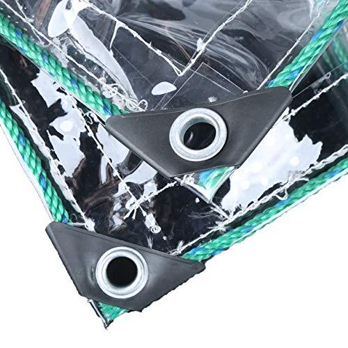 GZHENH Lona Transparente, Plantas Cubierta con Ojales De Metal CLORURO DE POLIVINILO Láminas De Plástico Impermeable A Prueba De Viento, 22 Tamaños (Color : Claro, Size : 3x4m)