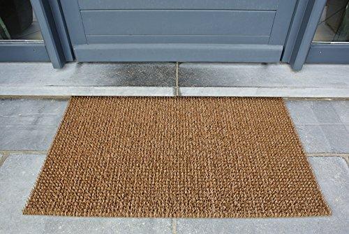AstroTurf Classic Fußmatte, Fußabstreifer Eingangsmatte für Innen- und Außenbereich, Unvergleichliche Reinigungsleistung, Polyethylen, Kokos Braun, 90x55x2 cm