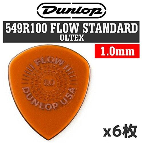 【6枚セット】Dunlop 549R100 FLOW Standard ULTEX 1.0mm ギター ピック