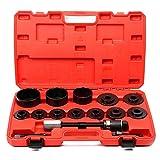 BMOT Herramienta de cojinete de rueda Extractor de cubo de rueda de 26 piezas para todo el conjunto de extractor de cojinete de rueda desmontable Conjunto de herramienta de extracción de cubo de rueda
